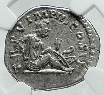 LUCIUS VERUS Authentic Ancient 165AD Rome Silver Roman Coin PARTHIA NGC i78646