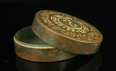 Collection of ancient Chinese bronze exquisite eight trigram ink box