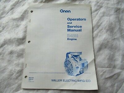 Onan B48M engine operators and service manual