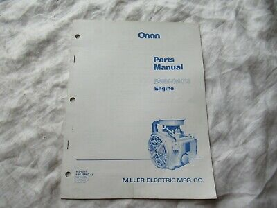 Onan B48M GA018 engine parts catalog manual