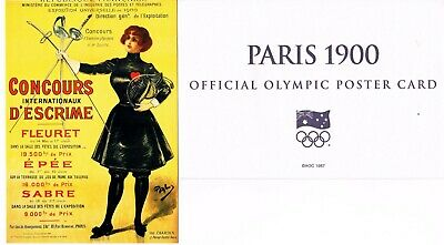OFFICIAL AOC OLYMPIC POSTER CARD - PARIS 1900 (sealed in envelope)