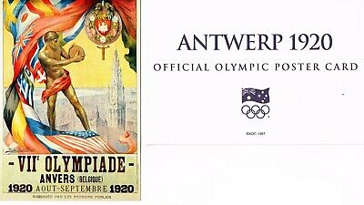 OFFICIAL AOC OLYMPIC POSTER CARD - ANTWERP 1920 (sealed in envelope)