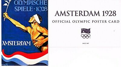 OFFICIAL AOC OLYMPIC POSTER CARD - AMSTERDAM 1924 (sealed in envelope)
