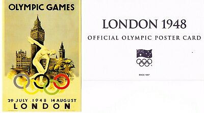 OFFICIAL AOC OLYMPIC POSTER CARD - LONDON 1948 (sealed in envelope)
