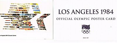 OFFICIAL AOC OLYMPIC POSTER CARD - LOS ANGELES 1984 (sealed in envelope)