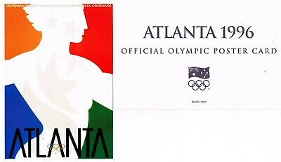 OFFICIAL AOC OLYMPIC POSTER CARD - ATLANTA 1996 (sealed in envelope)