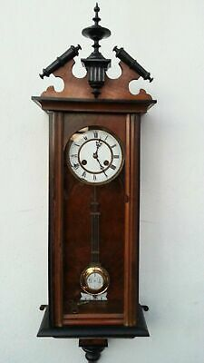 Antique Junghans German Pendulum Wall Clock Regulator With Gong