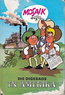Die Digedags in America - Mosaic by Hannes Hegen - Publisher Young World 1990