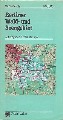 Hiking Map Der DDR ,1:50.000,Berliner Forest and Lake District,Tourist Publisher