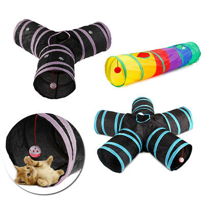 1* Pet Polyester Cloth Cat Tunnel Tent Toy Foldable Colorful/Three-way/Five-way
