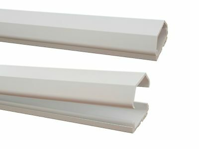 White 1m Cable Channel 37x16mm (inside Dimensions) Self Adhesive