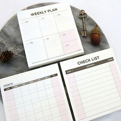 Paper Diary Notebook Planner Agenda Memo Weekly Monthly Work Notepad Plan New