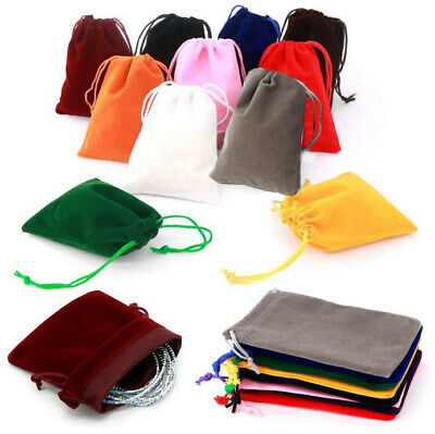 10X Small Gift Bag Velvet Cloth Drawstring Bag Jewelry Ring Pouch Wedding Favors