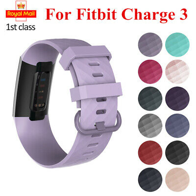 For Fitbit Charge 3 Silicone Sport Band Replacement Strap Watch Small/Large