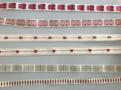 British Handmade Dog Collar / Lead - Queen Hearts British Flag - 25Mm Or 16Mm