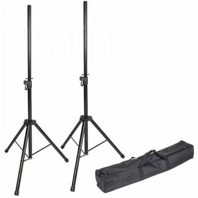 Kinsman KSS08 Speaker Stand Set With Compact Carry Bag
