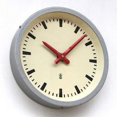 EAST GERMAN1960s Midcentury Vintage Retro Industrial Factory Wall Clock