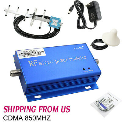 850MHZ CDMA Cell Phone Signal Booster Amplifier Home Mobile Repeater Antenna Kit
