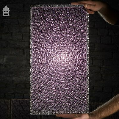 Collection of 19th C Purple Coloured Muranese Florentine Glass Panes Salvaged fr