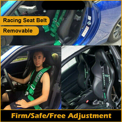 Removable TAKATA Racing Seatbelts 3'' inch 4 Point Car Belts Harness race Bucket