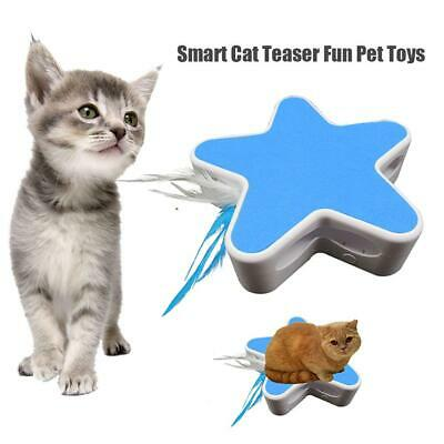 Electric Pet Cat Toy Smart Teaser Interactive Kitten Rotating Feathers Funny Toy