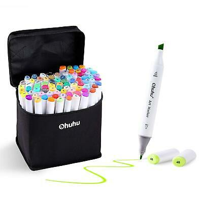 Ohuhu 60 Colours Dual Tips Permanent Marker Pens Art Markers For Kids, Pen With