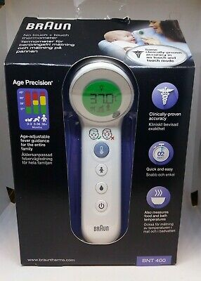 Braun No Touch + Touch Thermometer With Age Precision (BNT 400) - Brand New