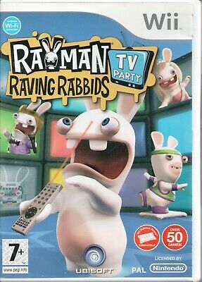 Wii - Rayman Raving Rabbids: TV Party (Nintendo Wii, 2008) - COMPLETE