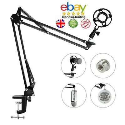 Adjustable Foldable Microphone Desk Mic Arm Stand With Table Mounting Clamp