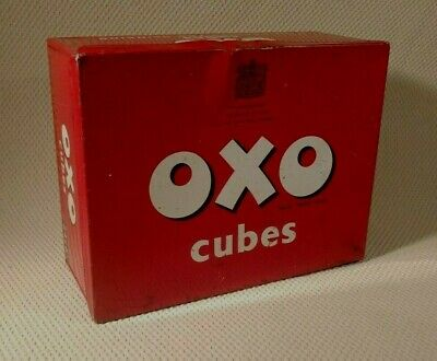 Vintage Metal Oxo Cubes Large Tin