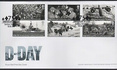 2019 - D-Day FDC - Southsea, Portsmouth - Post Free