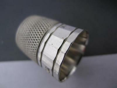 Vintage Sterling THIMBLE panel style Simons size 12  $22 each