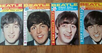 Beatles set of four pop pic super booklets 1964 one for each each Beatle