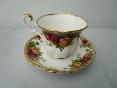 Royal Albert Old Country Roses - Cup & Saucer - 1st Quality - 1973 Backstamp