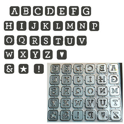 Square Letter Metal Cutting Dies DIY Scrapbooks Emboss Paper Cards Punch Stencil
