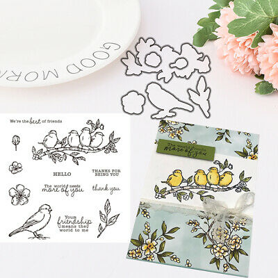 Bird Metal Cutting Dies Stamps DIY Scrapbook Cards Stencil Paper Album Decorat