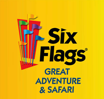 SIX FLAGS GREAT ADVENTURE AND SAFARI Child Youth Ticket Jackson, NJ