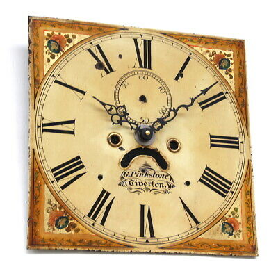 Grandfather/longcase iron clock dial. 19th century. Original.