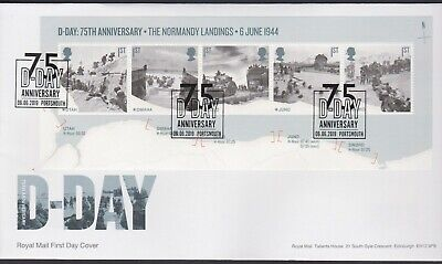 2019 - D-Day Mini Sheet FDC - 75 D-Day, Portsmouth - Post Free