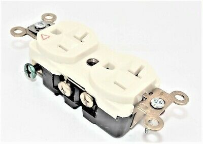 HUBBELL IG5362I Duplex Receptacle 1/pkg 20A 125V Isolated Ground 2 Pole