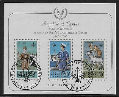 CYPRUS 1963 50th Anniv. of Cyprus Scout movement - 7756