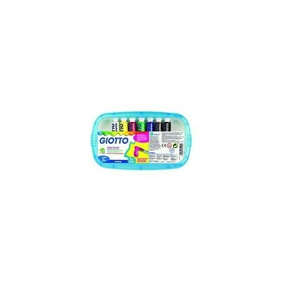 GIOTTO extra fine poster paint tubes pack of 7 - assorted colours 12ml