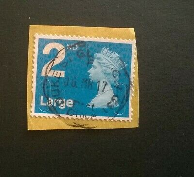 1 USED GB MACHIN 2nd CLASS LARGE M16L MAIL SG U3000 2016 STAMP GLASGOW POSTMARK