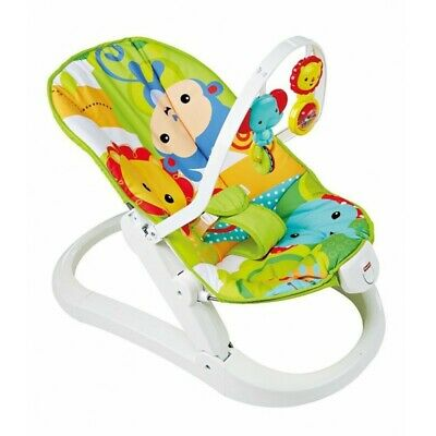 FISHER-PRICE Baby Bouncer Swing and Rocker 3 in 1 Natur Puppies