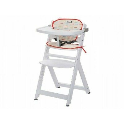 SAFETY 1st  Timba - High Chair Red Lines White Wood