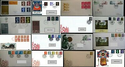 GB FDC 1966 - 2016 First Day Covers Definitive Regional Multi List from 99p