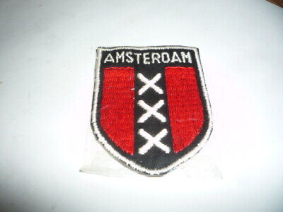 NEW Amsterdam embroidered shield coat of arms Holland Patch Backpack flag