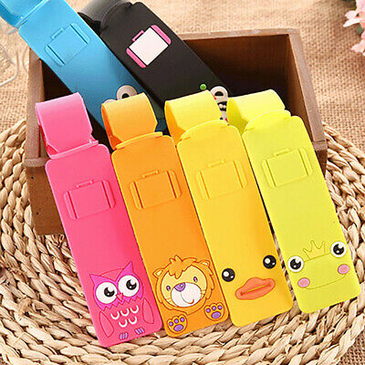 Cute Animal Silicone Luggage Tag Name Address Identifier Suitcase Label Cosy