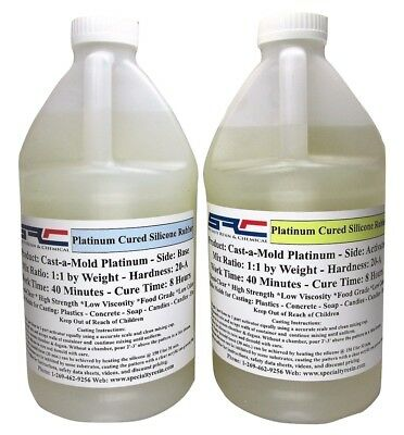 Platinum RTV Silicone Rubber For Mold Making: 1:1 Mix Ratio Food Grade 1 Gallon