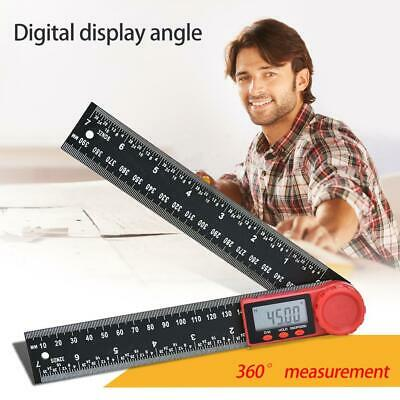 200mm Digital Protractor Ruler Inclinometer 360° Goniometer Level Measuring Tool